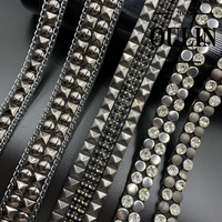 Hot fix tapes designs stud lace trim heart transfer type trims iron on garments fashion designs