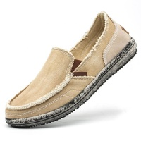 Driving shoes for men breathable Casual Cloth Canvas Slip on Loafers Leisure Vintage Flat Boat Shoes