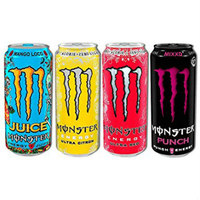 Monster-Energy Drinks, Lucozade,Powerade Energy