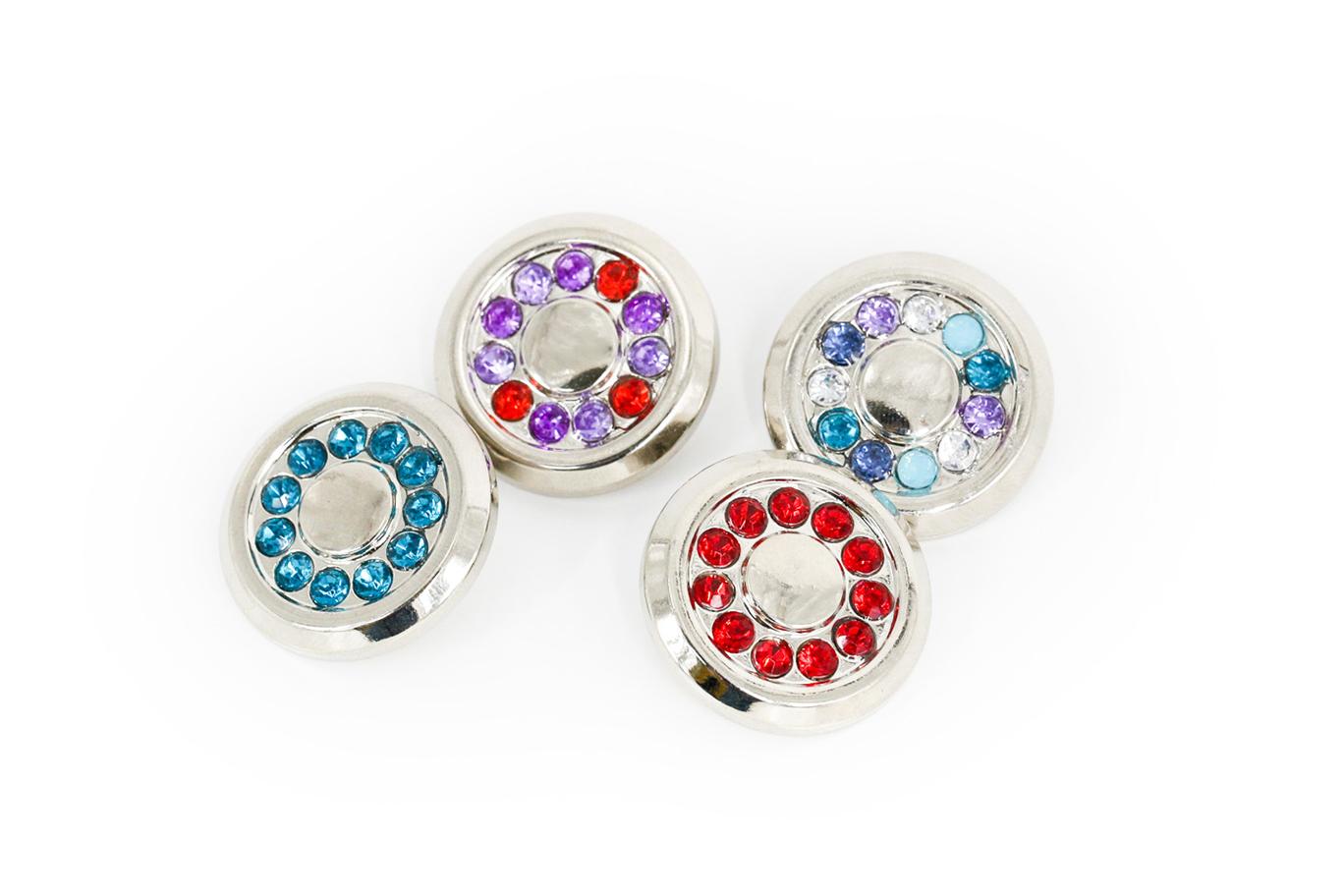 Fashion Round Berbentuk 1 Inch Diamond Berlian Imitasi Tombol untuk Menjahit