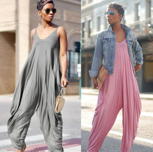 2019 Zomer Nieuwe Mode Vrouwen Jumpsuits Oversized Baggy Casual Jumpsuit Strappy Streetwear Overalls Vrouwelijke Romper <span class=keywords><strong>Harembroek</strong></span>