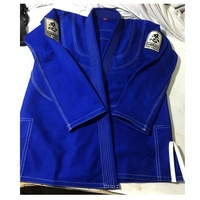 High Quality Custom 100% Cotton Embroidered BJJ Jiu Jitsu Gi Brazilian Kimonos Shoyoroll Cut Martial Arts Suits with Patches