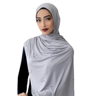 2019 newest stone jersey hijab stretchy comfortable jersey shawls for women muslim jersey hijab with stone