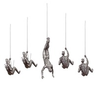Hanging Industrial Vintage Resin Creative Climbing Man Wall Sculptures Art