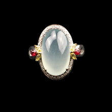 Ovale Cabochon Witte Jade <span class=keywords><strong>Ringen</strong></span> Sieraden Vrouwen Voor Engagement