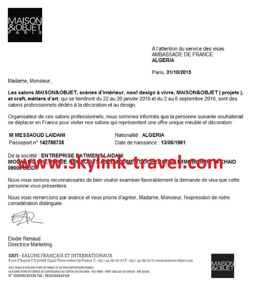 Invitation Letter For Visa from sc02.alicdn.com