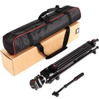 ASHANKS 5KG Tripod for camera 160CM Tripod with Fluid Damping Head Quick Release Plate Camera Tripod