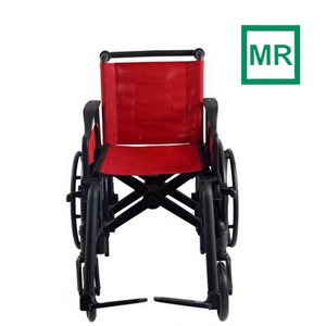 MRI wheelchair for 1.5T and 3.0T MR equipment/ plastic material/ no metal at all/ max loading capacity 125KGS/ CE certified