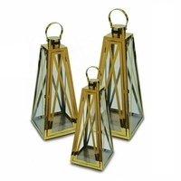 stainless steel lantern silver and Gold