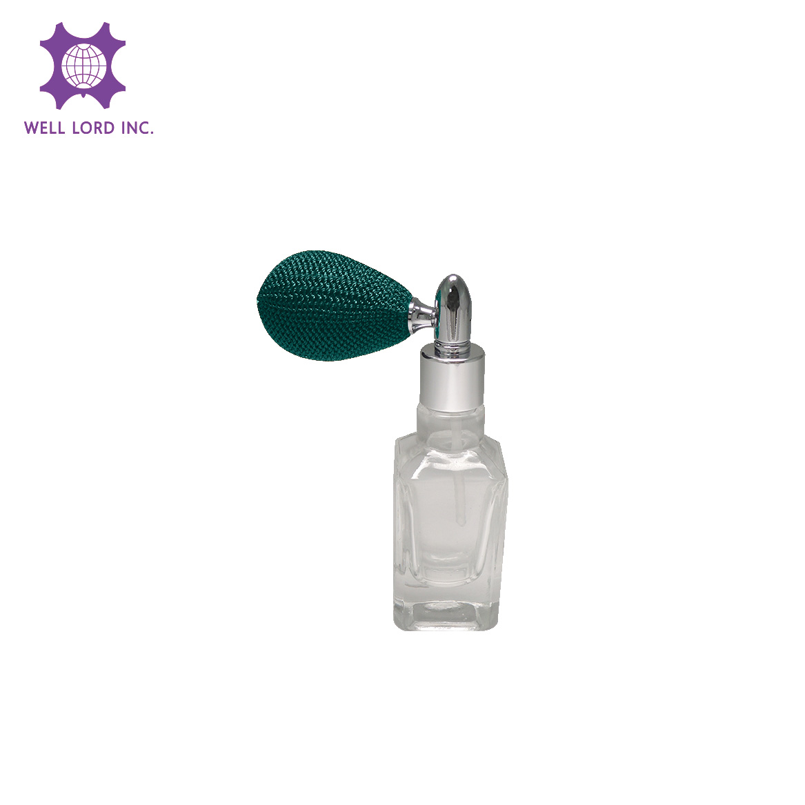 Cost-effective 13ml rectangular glass bottle with greenish blue bulb glass perfume bottles with spray
