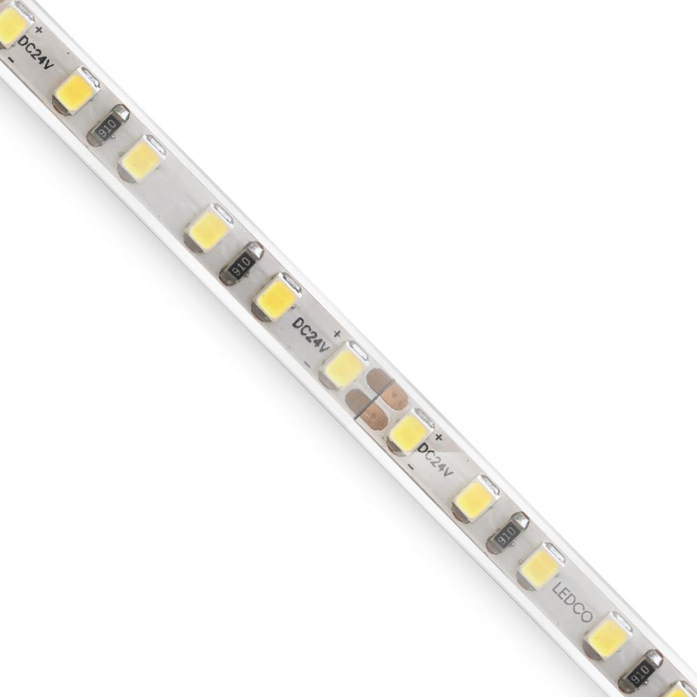 Led Strip IP68 120 led/mt - waterproof led strip light - 80W - SL125 5 meter 24 V - 3000 K warm white