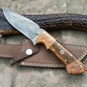 OEM Outstanding Survival Knife Damascus Steel Double Wooden Handle Lovely Handmade Hunting Knife (HMZ912)