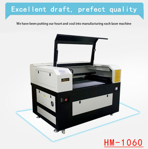 Mini co2 laser cutting machine Hanma Laser HM-1060 acrylic/plywood/paper laser cutting&engraving machine