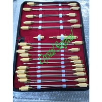 Liposuction Cannula Set with One Handle , German Stainless Steel Plastic Surgery Instruments , Cannulas For Liposuction