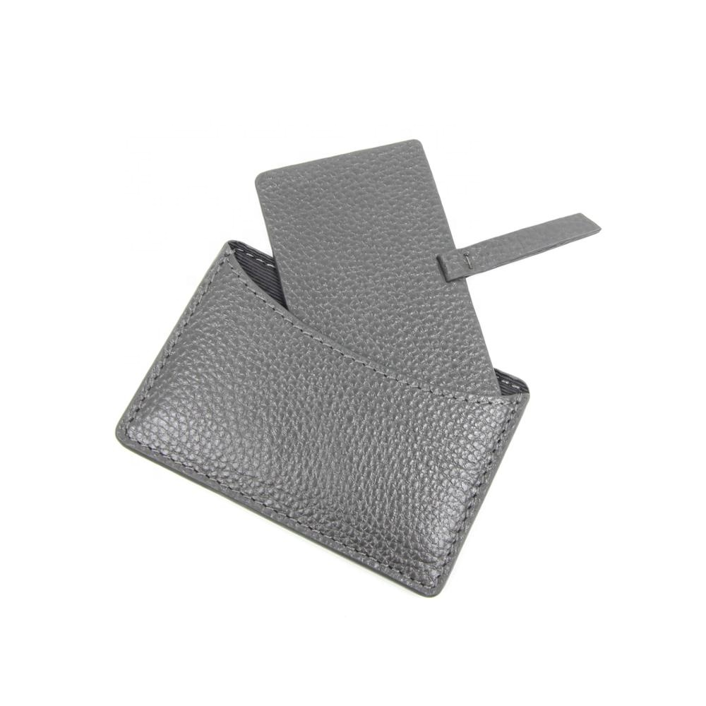 Fashionable Stainless Steel Mirror In Pebble Stone Pattern Cow Leather & Glitter Fabric Pouch