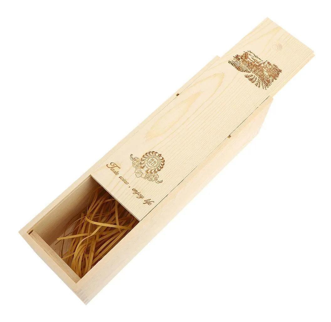Деревянная Подарочная коробка для вина с одной бутылкой