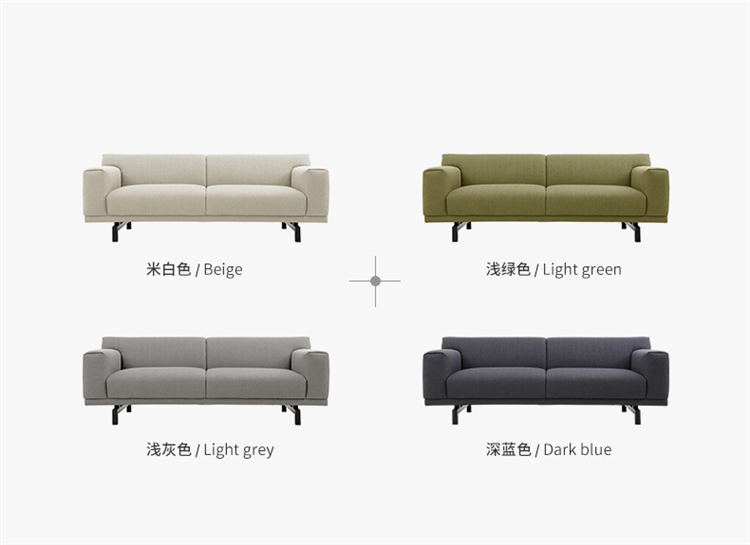 Living Room Luxury Furniture Manufacture Fabric Leather L Sharp Sofa Metal Leg And The Headrest