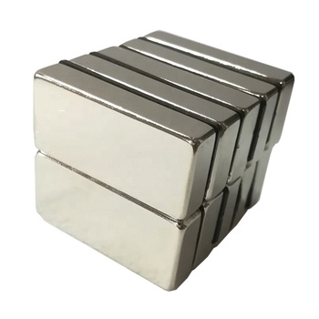 Super Strong N35 N52 Nickel Coated Neodymium Block Magnet With High Quality