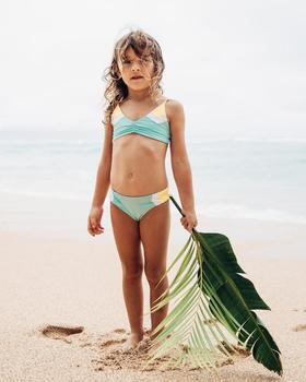 hot sell summer beach kids swimwear two piece bikini cute model girls swimsuit
