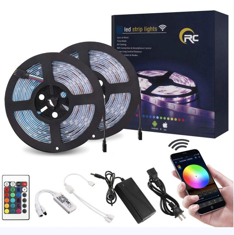Multi-colors LEDs Color Changing 12V Flexible SMD 5050 RGB cheap LED Strip Lighting 1meter