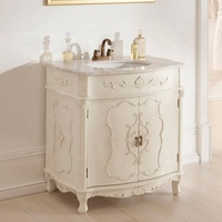 European Royal style Antique Bathroom Vanity Cabinet High Quality New 2019