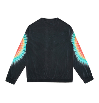 custom tie dye 100 cotton long sleeve black t shirt made in china