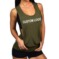 2019 Wholesale Cheap Price Tank Top Fitness Wears Ladies Sports Tops Workout Running Women Gym Custom Logo Wear Hot Design