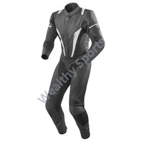 Black color leather suit for racing