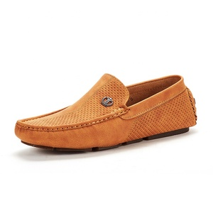 2019 Italian Men's Leather Moccasins Loafers Shoes For Men Soft Comfortable Mens Flat Casual Dress Shoes