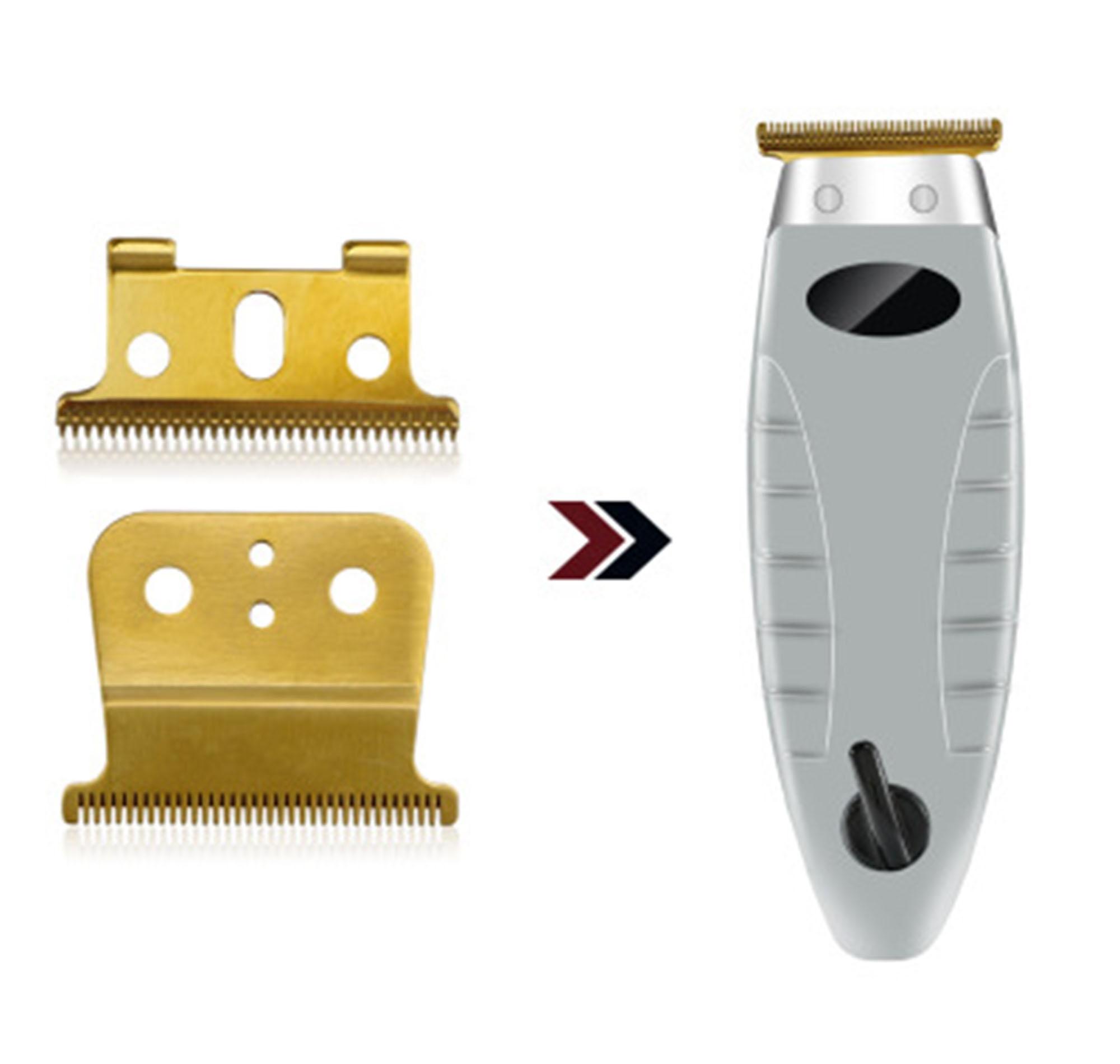 स्टेनलेस स्टील सोना चांदी Andis टी-outliner द्वितीय ब्लेड बाल Trimmer के लिए स्टॉक में