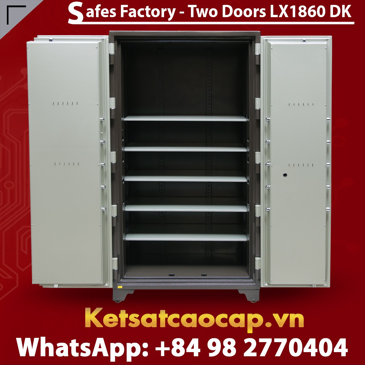 Bank Safes LX 1860 DK Two Door Smart Locking System Security