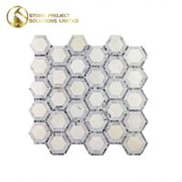 Great Value Hexagon Tile Honey Comb Mosaic For Residence Decoration