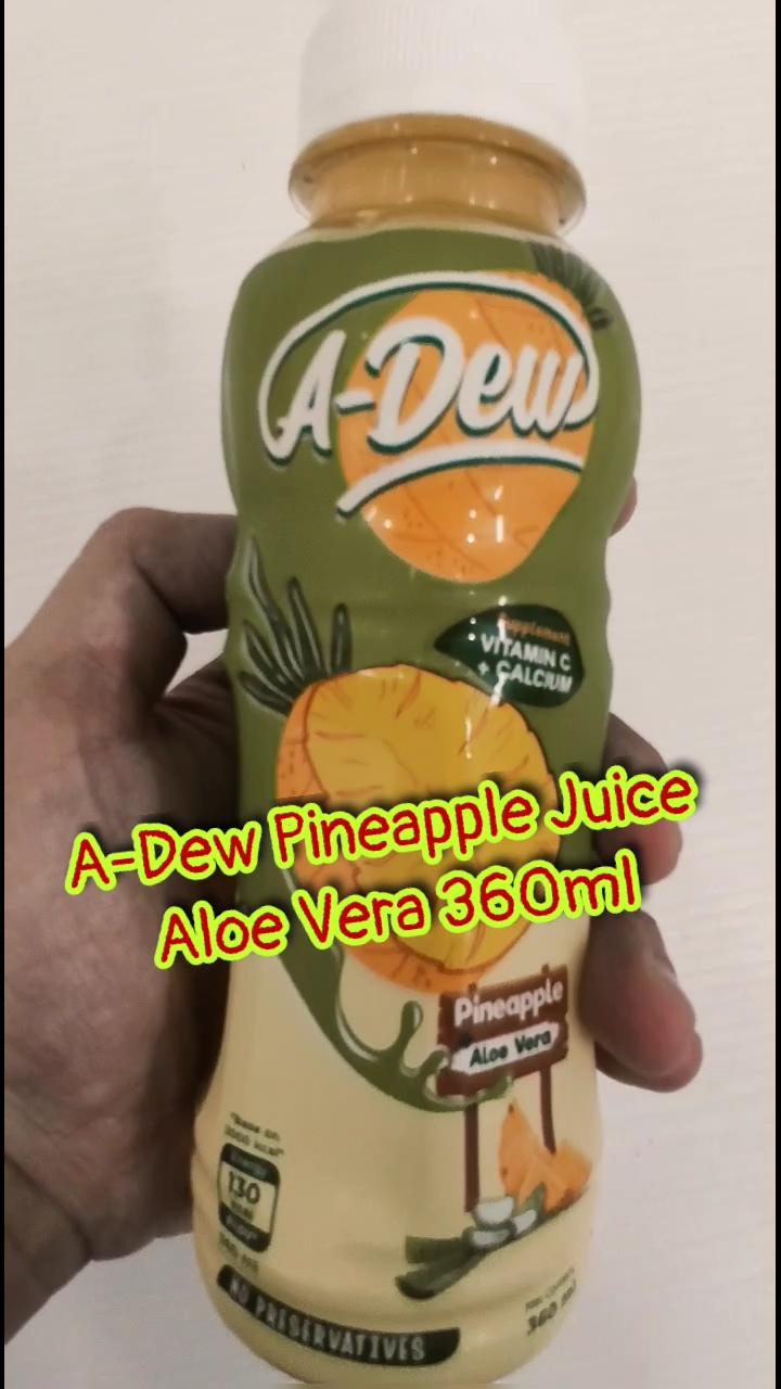 A-DEW Brand Pineapple Juice Aloe Vera 360ml Vietnam Best-selling OEM