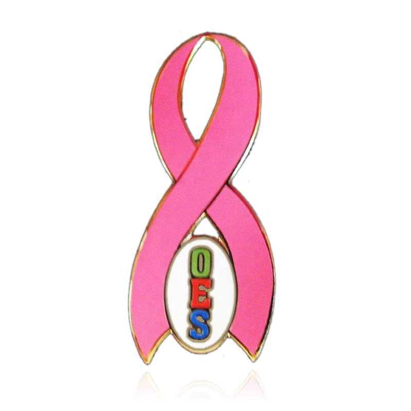 Auftrag der eastern star OES Brust Cancer Awareness Pink Ribbon Pin Schmuck