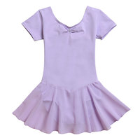 Bebechat wholesale children ballet costumes gymnastics leotard cotton/spandex girls dance wear (short sleeve skirted leotard)
