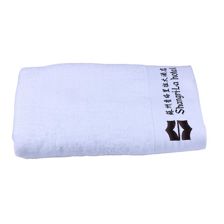 5 star hotel badhanddoek wit, luxe 100% katoen wit hotel handdoek