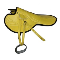 Horse racing saddles with set.