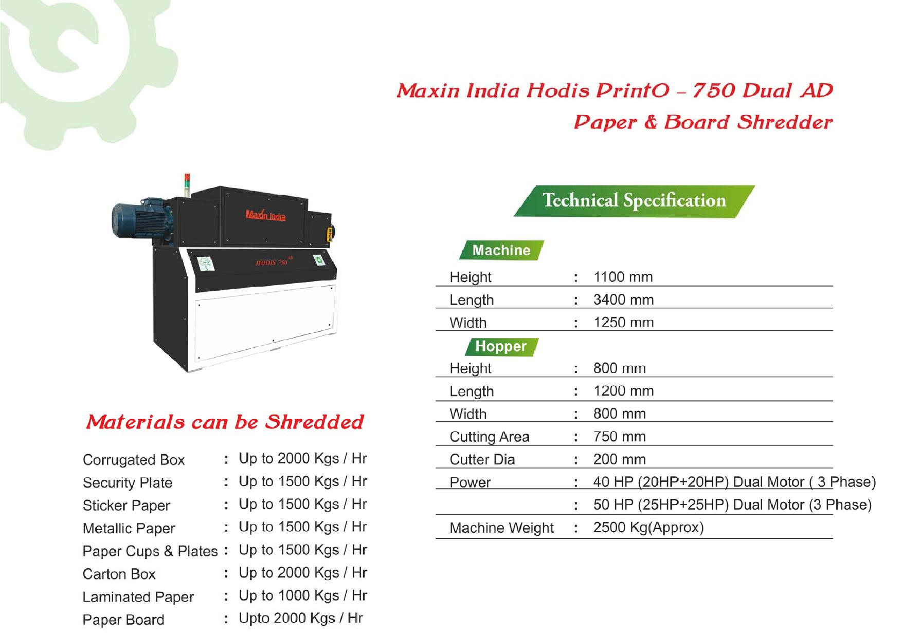 Best Quality Multipurpose Paper Shredder for Tetra Pack using for  Recycle Paper Products