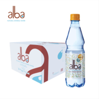 alba Natural Mineral Sparkling Water 500ml*24 | High-end | in Bulk | OEM | PET | for Wholesale