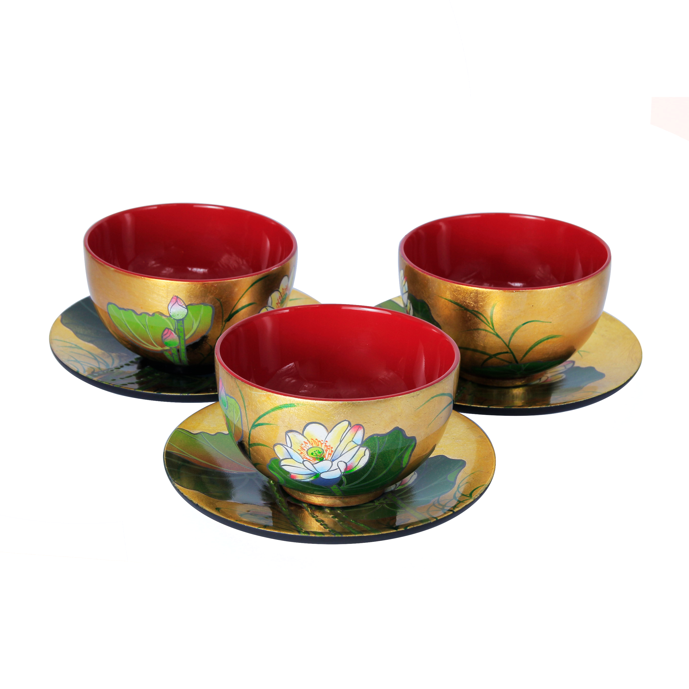 Handicraft Customized Multi-color Lacquer Bowls Version 2020 Premium Quality Wooden Bowl
