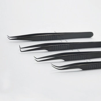 Black Horizontal Lines Eyelash Extension Tweezers