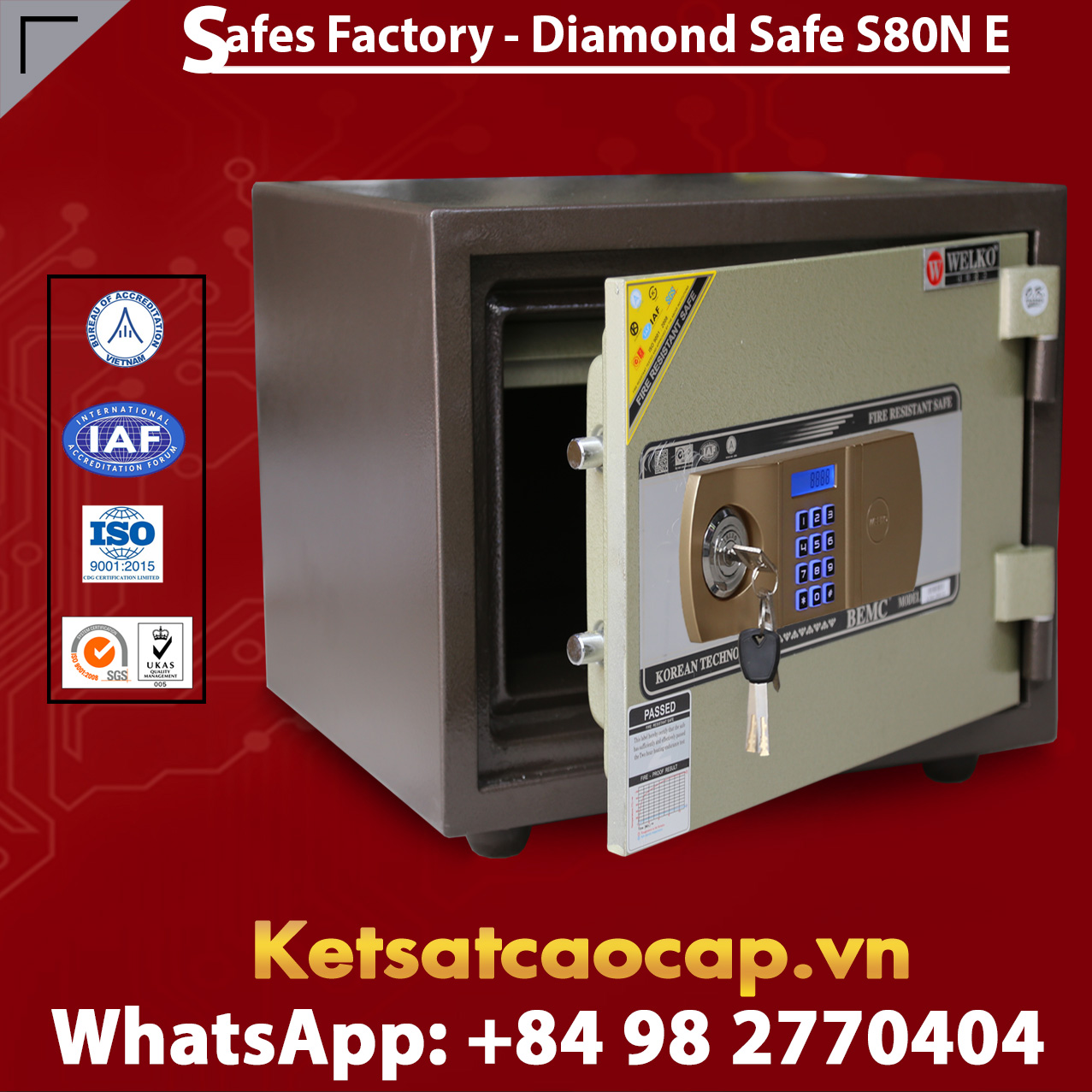 Diamond Safe KS80N Gold EVN Black