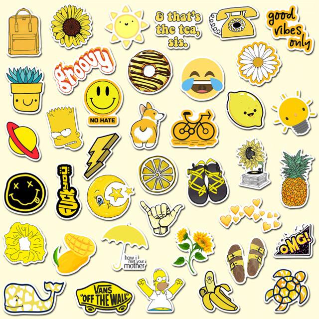 стикеры картинка желтые концом