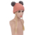 Kid Knit Cap Wigs Blonde Long Double Braids Wig Synthetic Hair Knitted hat wigs For Kids