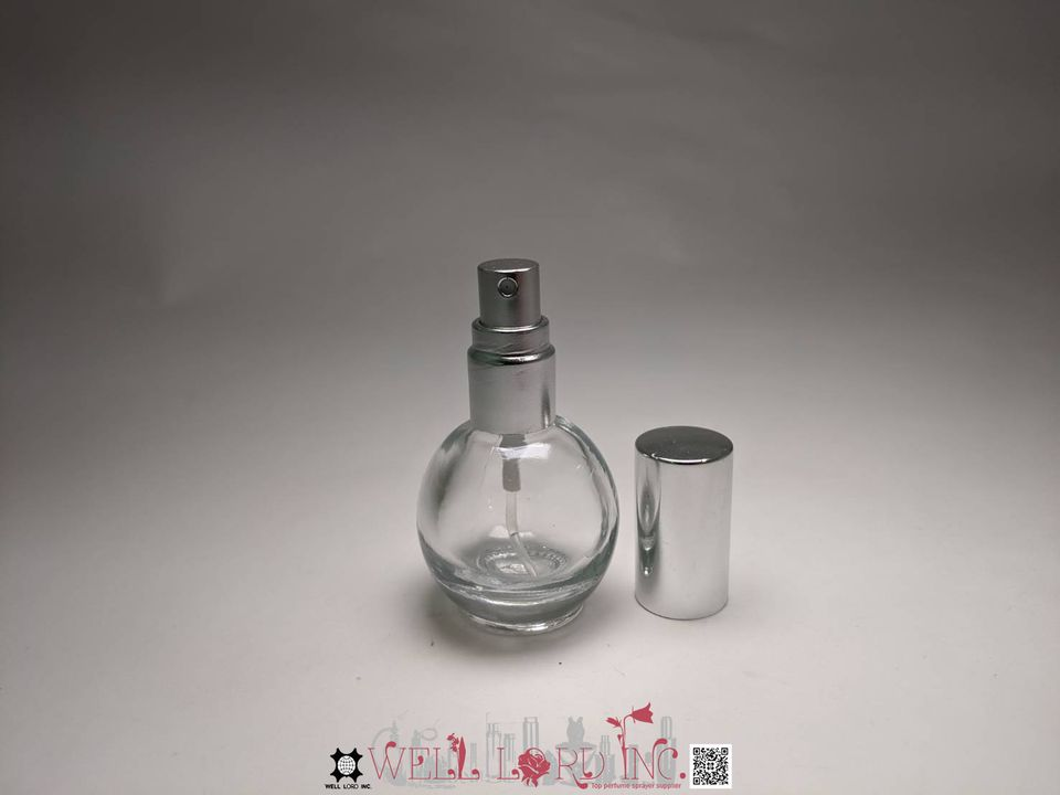 Enchanting Vintage Style Clear Glass Empty Refillable Perfume Bottle with sprayer