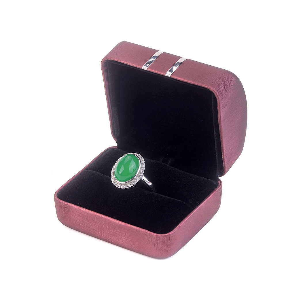 Custom Logo Quality Red Silver Packaging Jewelry Boxes Ring Bracelet Necklace Pendant Jewellery Set