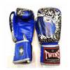 Blue Twins special Professional fight Leather Boxing Gloves twins