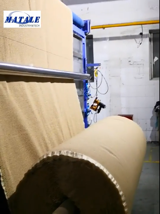 Tufted carpet secondary back coating line