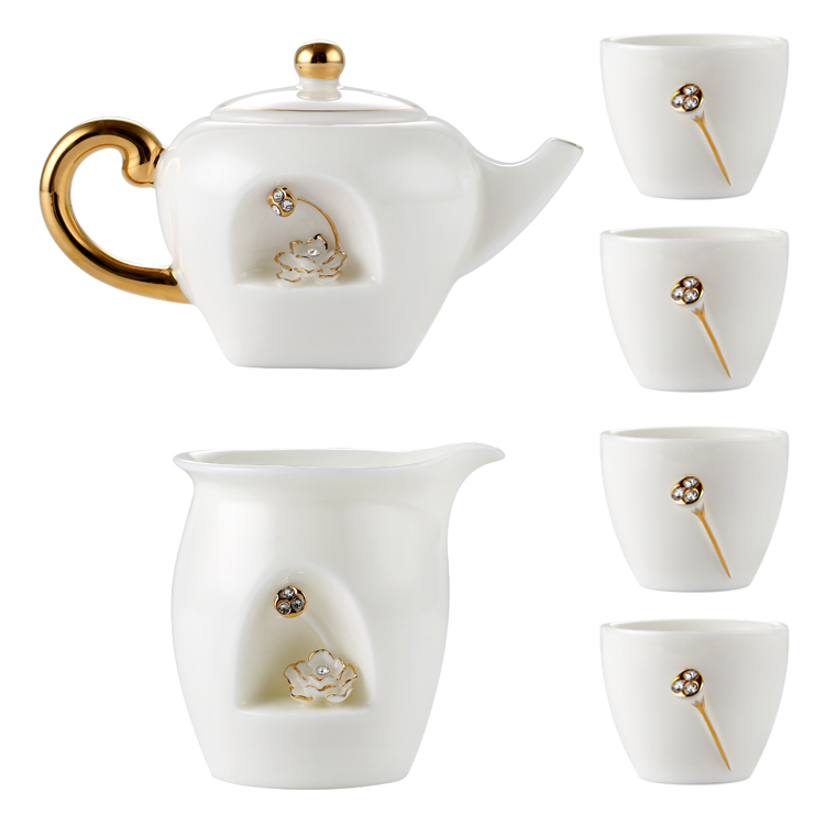 <strong>Set</strong> of 6 Negative Ion <strong>Tea</strong> Pot Cups <strong>Porcelain</strong> Decor Crystals <strong>Tea</strong> Tasting <strong>Set</strong> Ceramics <strong>Sets</strong> with Teapot <strong>Porcelain</strong>