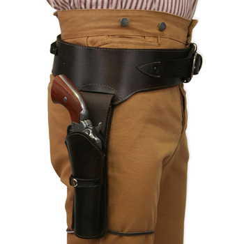 leather holsters Single Western Heavy Cowboy Holster & Basket Weave Belt